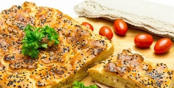Вкусный пирог с капустой в духовке