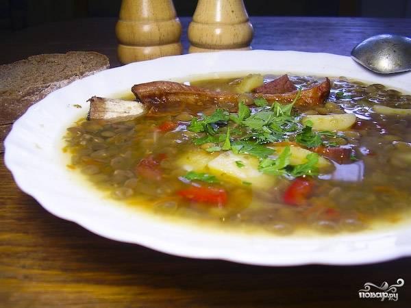 Чечевично-гороховый суп