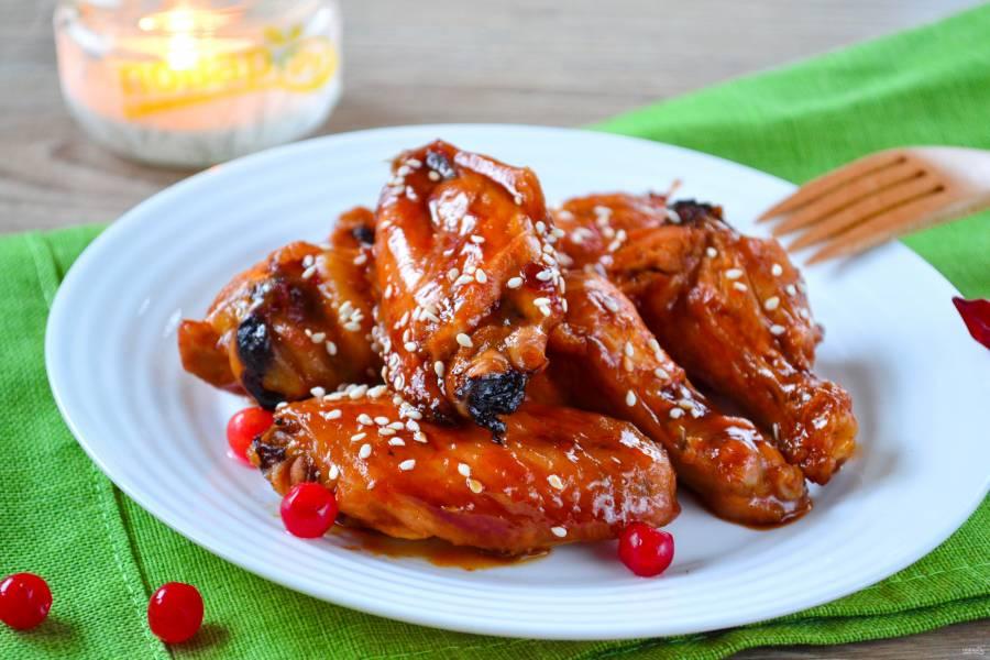Куриные крылышки с соусом чили