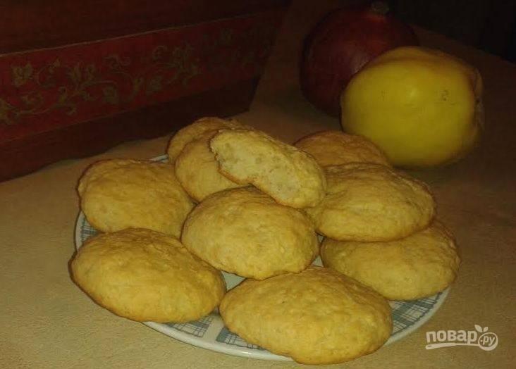 Постное яблочное печенье