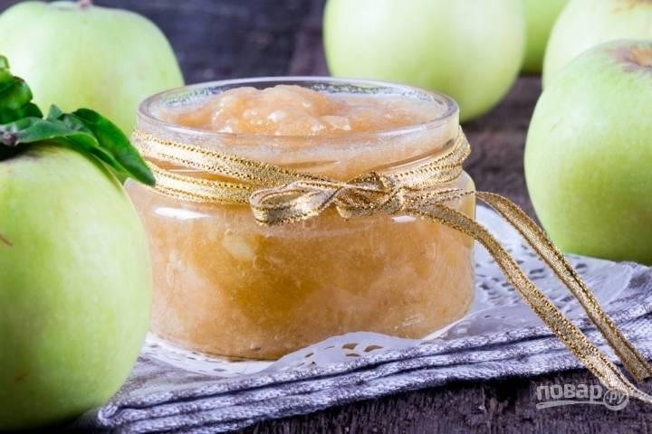 Яблочный конфитюр (простой рецепт)