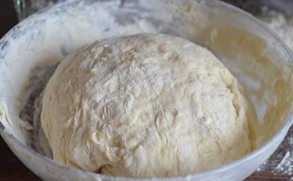 Теперь начинаем постепенно всыпать муку и замешивать тесто, пока оно не перестанет прилипать к рукам и не приобретет однородную консистенцию. Опять ставим его в тепло минут на 15-20, за это время оно должно увеличиться в объеме в 1,5 раза. Теперь оно готово к дальнейшей работе и лепке пирожков. Удачи вам!