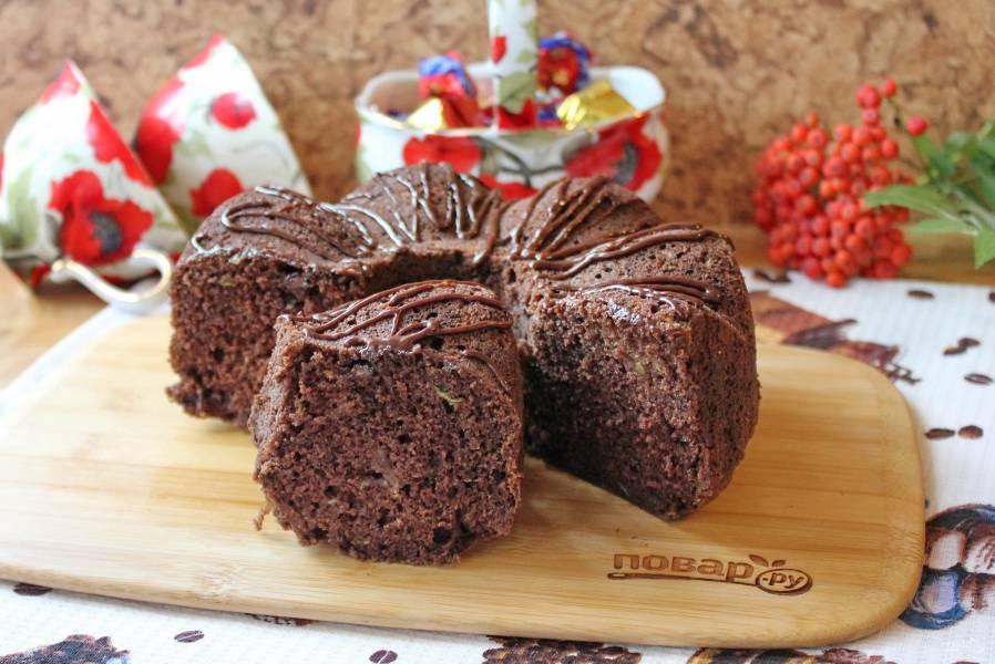 Шоколадный кекс с кабачком