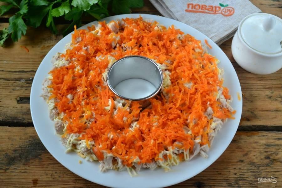 Следующий слой – морковь.