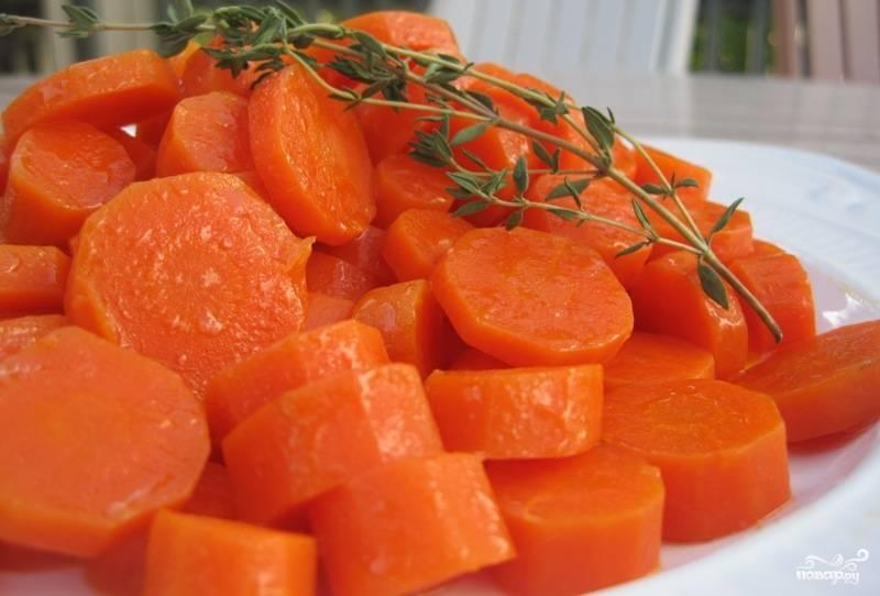 Морковь в микроволновке
