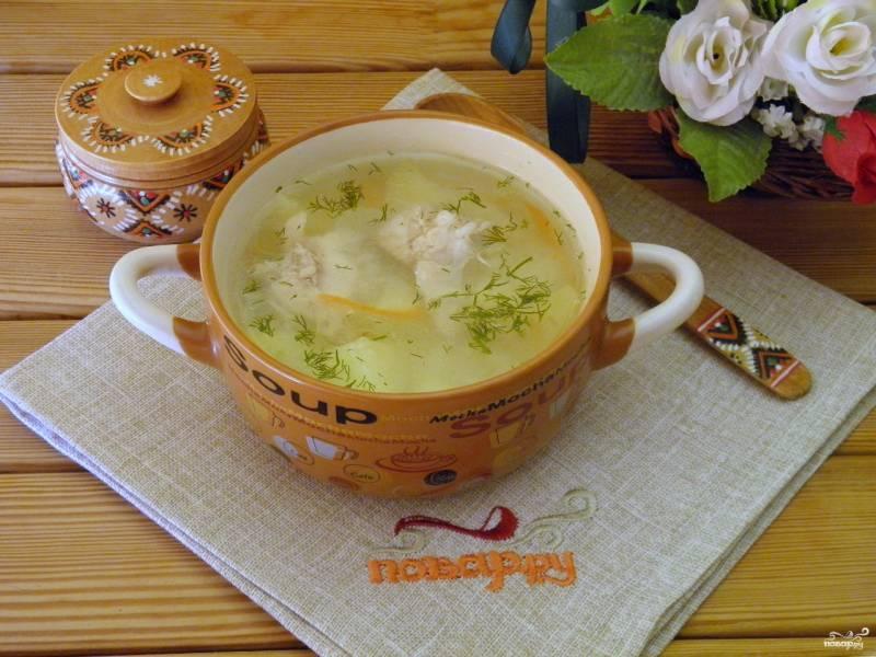 Куриный суп с рисом и картошкой