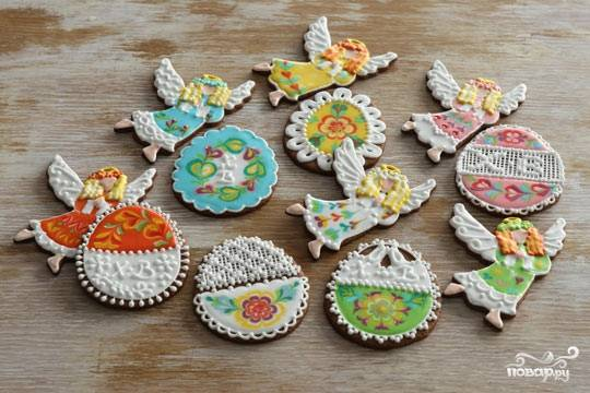 Пасхальные печенья с глазурью