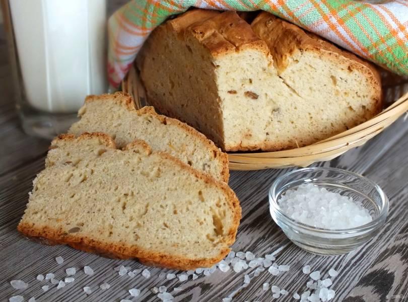 Хлеб на соде и кефире