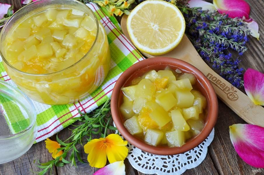 Варенье из кабачков с апельсином и лимоном