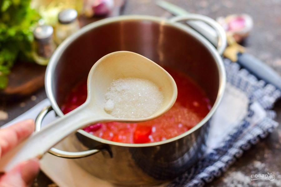 Сразу добавьте масло, сахар и соль.