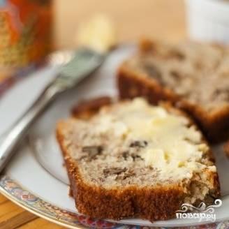 7. Готовый банановый хлеб нарежьте и подавайте с чаем. Приятного аппетита!