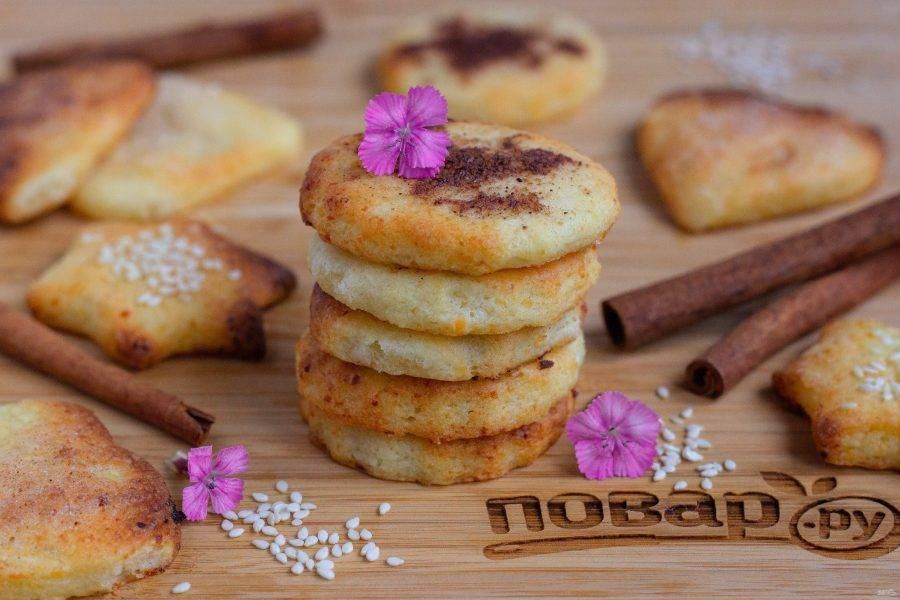 Наше творожное печенье готово! Очень вкусное! :)