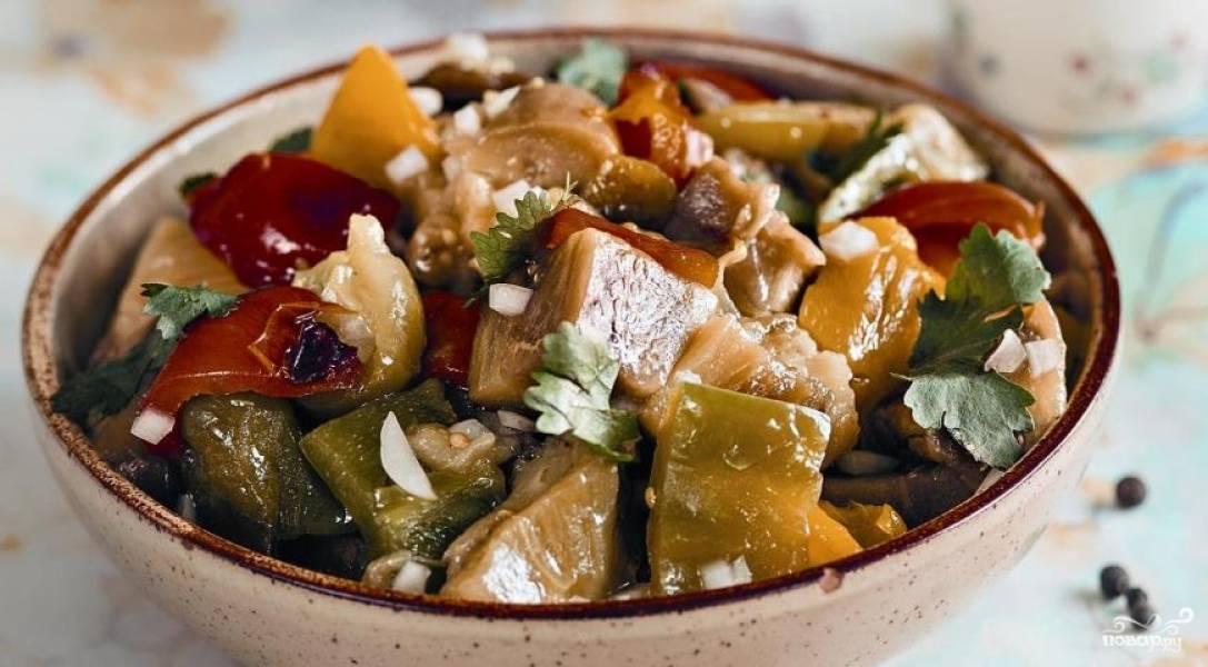 Салат из печёных овощей