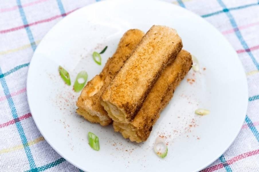Хлебные рулетики с сыром