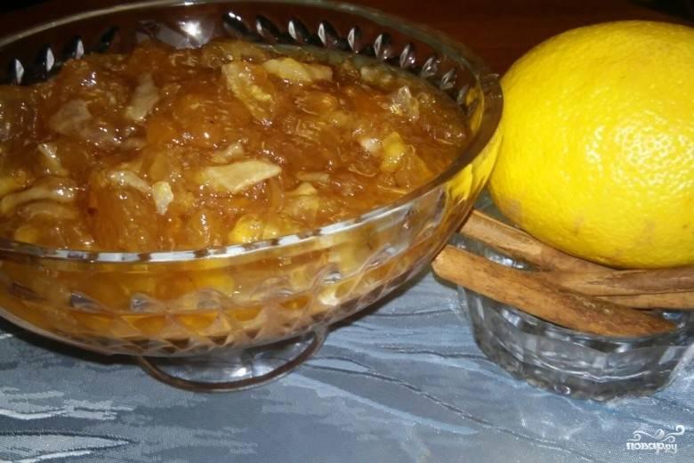 Лимонный джем с имбирем