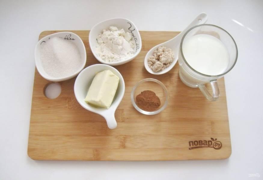 Подготовьте ингредиенты для приготовления американских булочек.