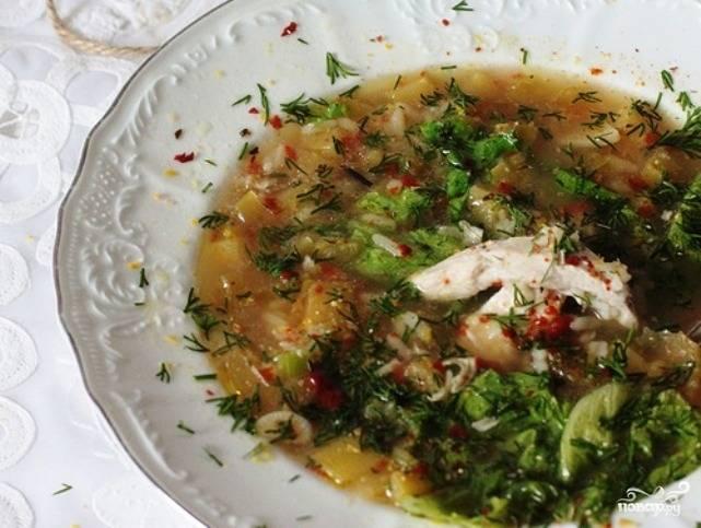 Куриный суп с крупой