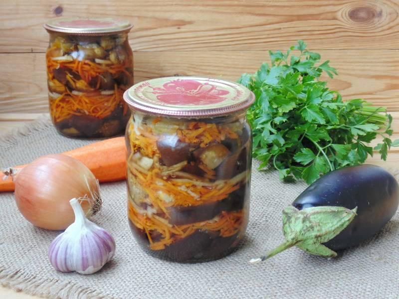 Салат из баклажанов с луком и морковью на зиму