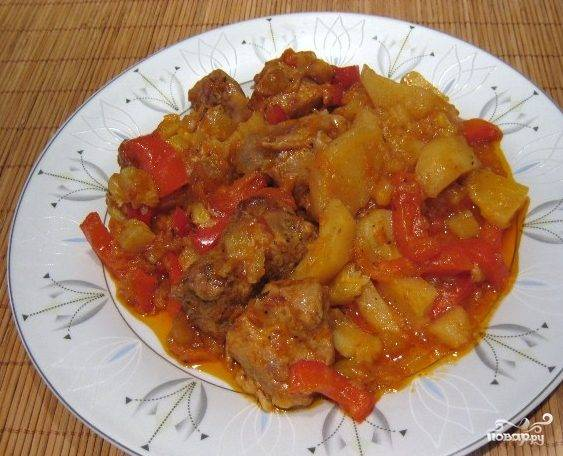 Курица в горшочке в духовке с овощами
