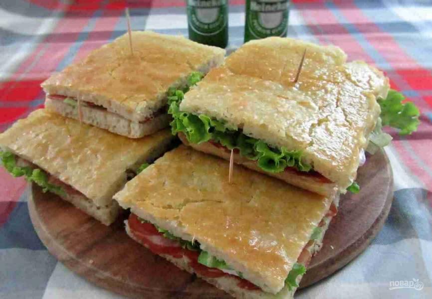 Фокачча для сэндвичей