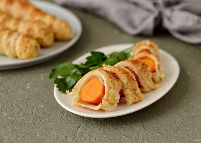 Морковь в тесте готова, приятного аппетита!