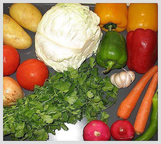 Подготовьте овощи.