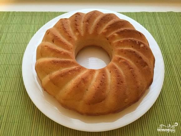 5. Вот такой аппетитный творожно-лимонный кекс в домашних условиях получился в результате. Приятного чаепития!