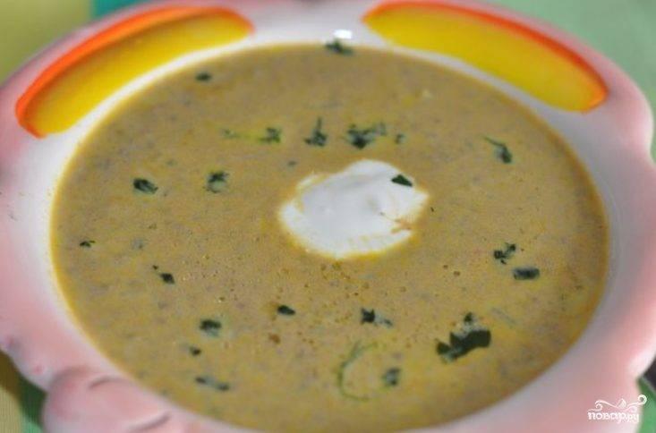 Суп с печенью трески