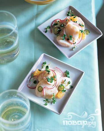 Севиче с мятой и грейпфрутом