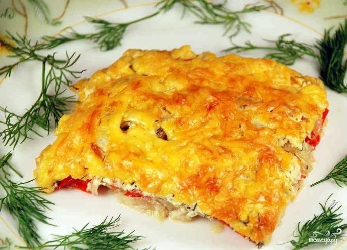 Рыба, запеченная в духовке с сыром