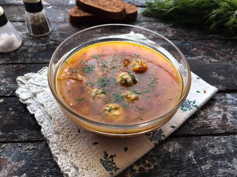Гречневый суп без картофеля готов. Приятного аппетита!