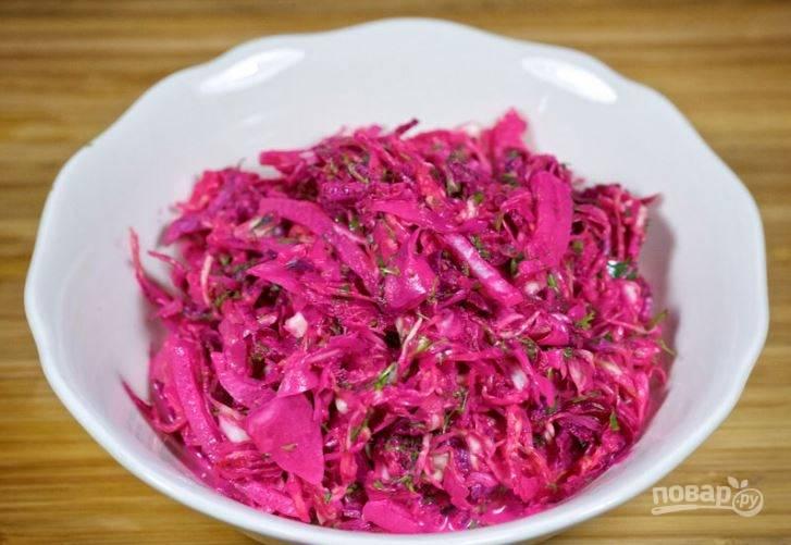 Салат из свеклы и капусты