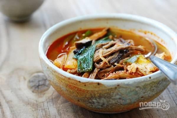 """Суп """"Почти по-корейски"""""""