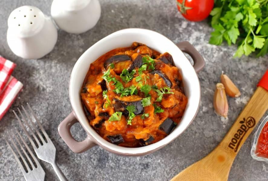 Баклажаны в томатно-молочном соусе готовы. Приятного аппетита!