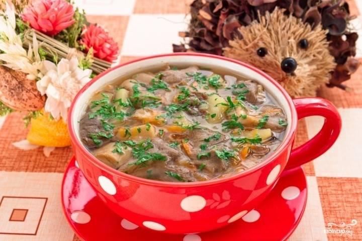 Грибной суп без зажарки