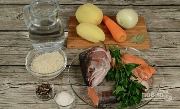 1. Вот такой набор ингредиентов мы будем использовать в этом рецепте.
