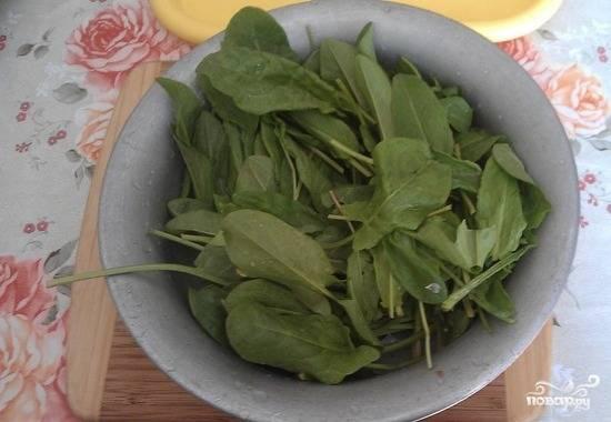 5. Пока овощи варятся, хорошенько промойте щавель в холодной воде, дайте ей стечь. Щавеля можно брать меньше или больше, в зависимости от того, как вы любите.
