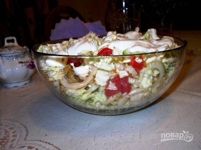 Салат с мясом (свинина)