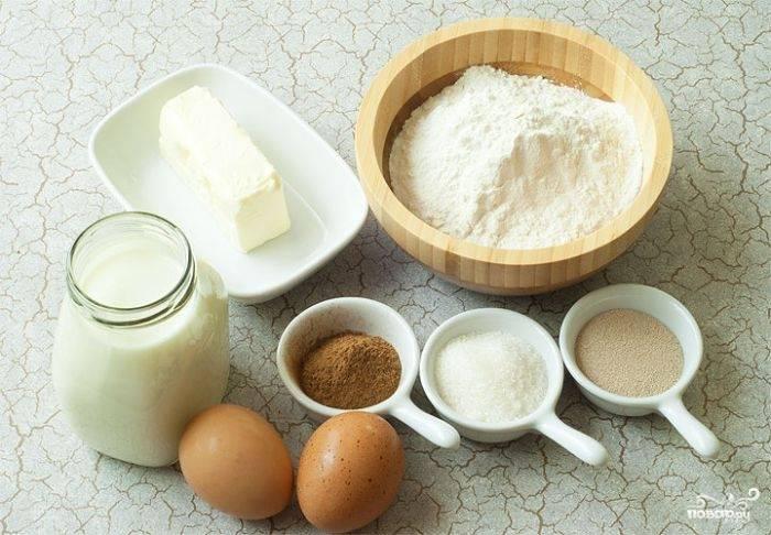 Я рекомендую всегда перед началом приготовления любого блюда разобраться со всеми ингредиентами, выставить их на стол. Вот, на фото, ингредиенты для теста.