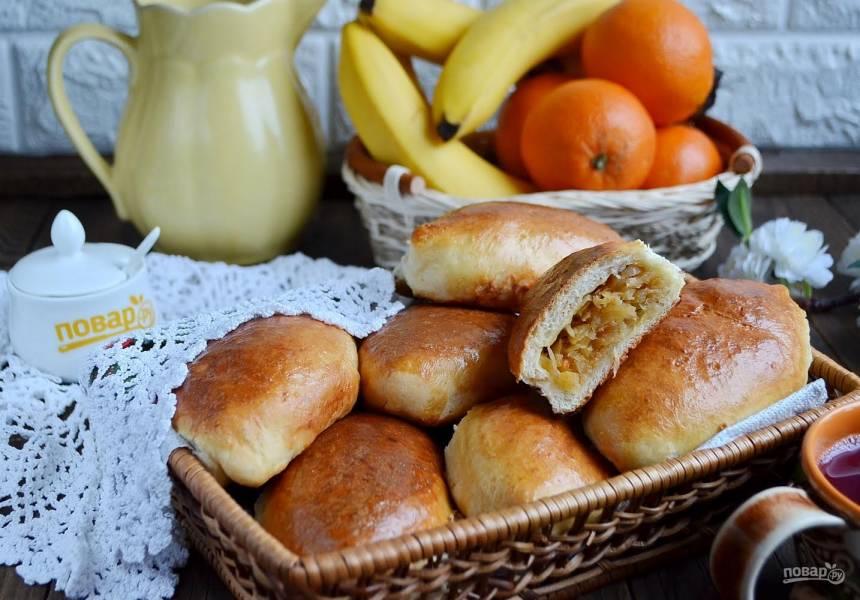 Домашние пирожки c капустой