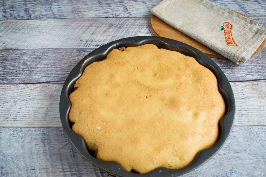 Готовому пирогу дайте остыть в форме.