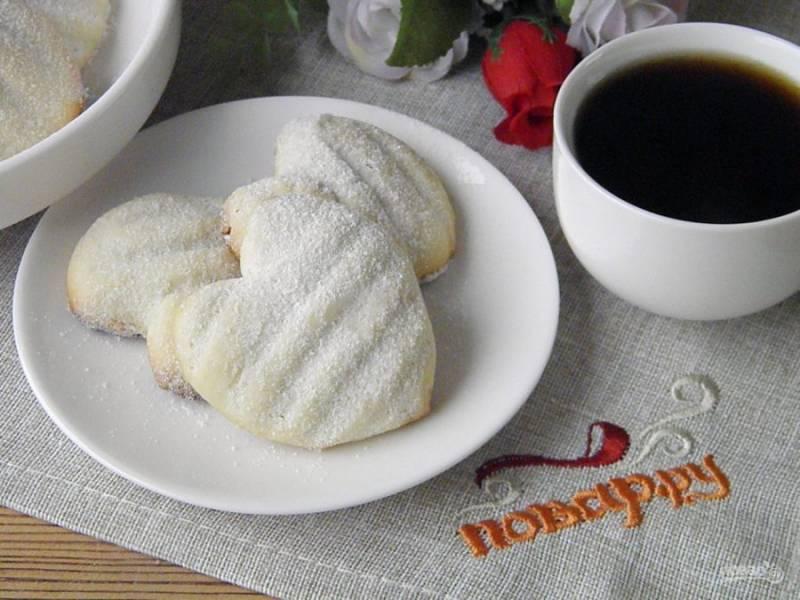 9. Печенье готово! Внутри оно рассыпчатое и очень вкусное!