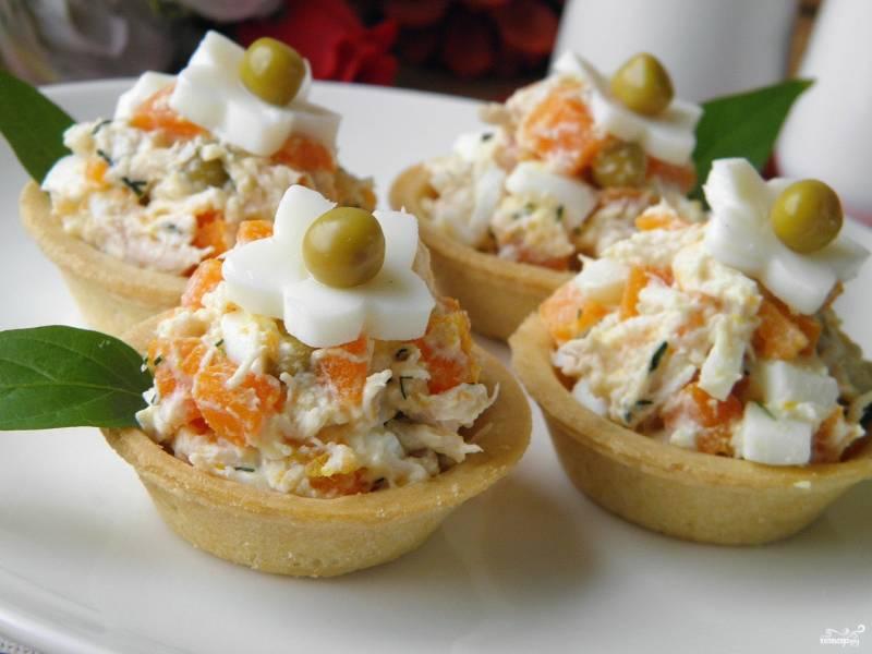 Салат в тарталетках для детей