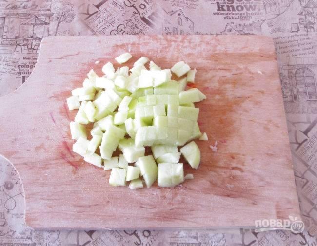 Яблоко добавьте в последнюю очередь.