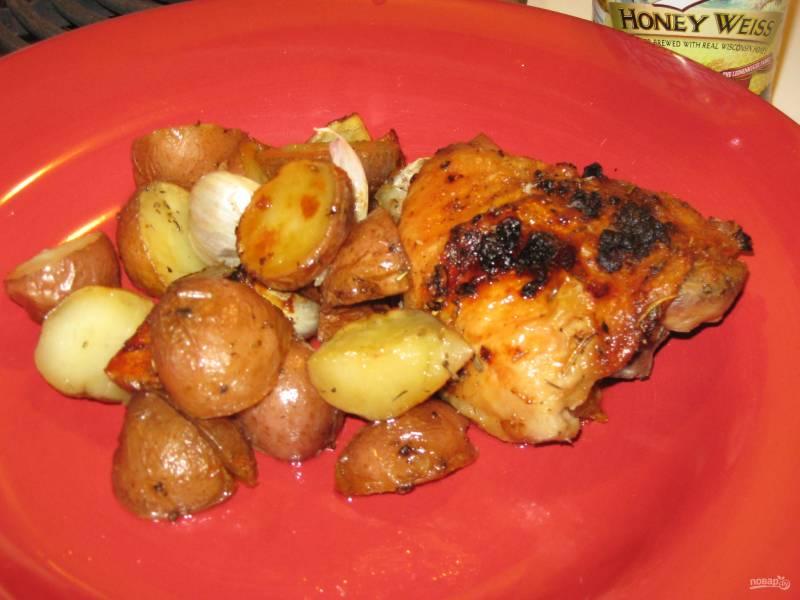 Картофель с мясом в духовке