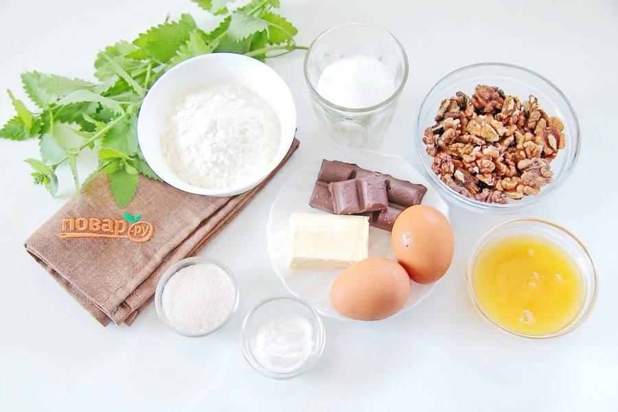 1. Подготовьте все ингредиенты. Мяту промойте и обсушите.