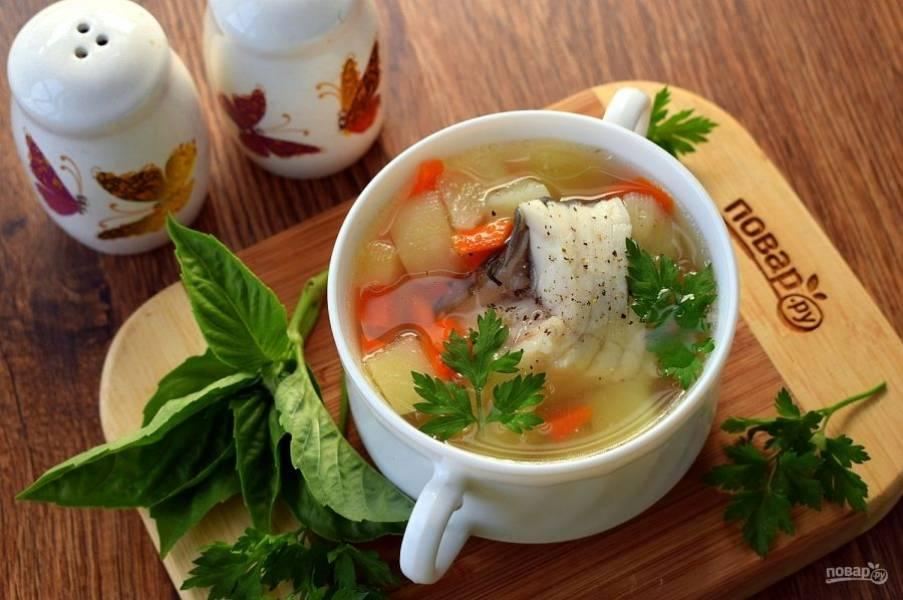 Подавайте балык сорпа горячим со свежей зеленью. Приятного аппетита!