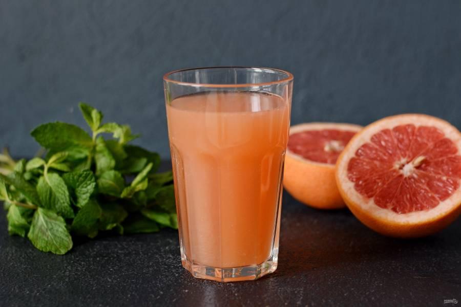 Лимонад из грейпфрута