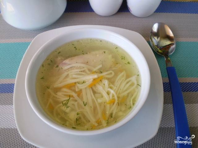 Суп из домашней лапши