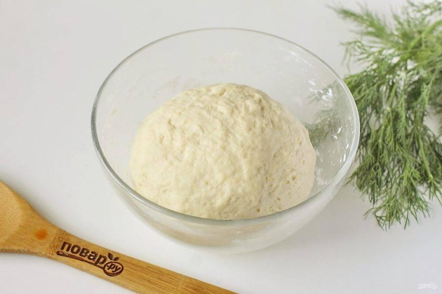 Замесите мягкое и эластичное тесто, которое не прилипает к рукам.